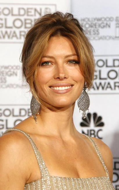 Jessica Biel at the 64th Annual Golden Globe Awards.